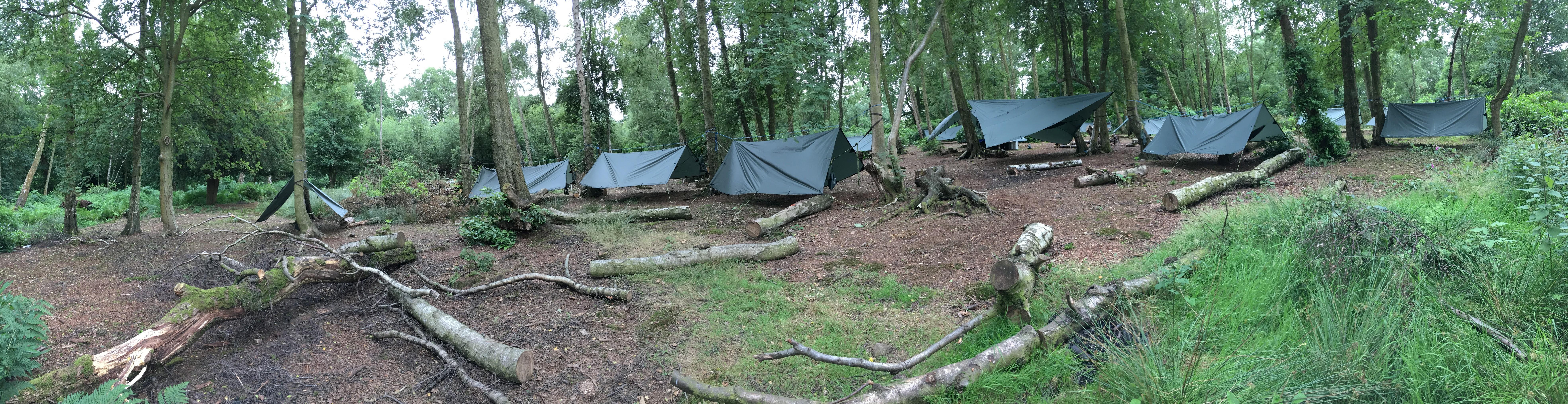 camp site hammock shelter tent